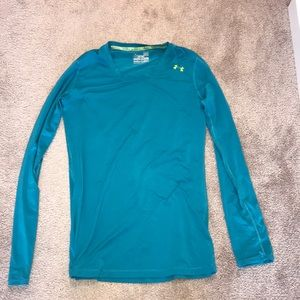 Long-sleeve under armour workout top